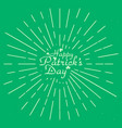 st patricks day card with grunge isolated on gree vector image