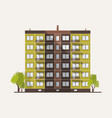 tall multistory city panel building built in vector image vector image