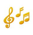 treble clef and note sign music award reward vector image vector image