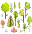 trees bush green forest clipart collection vector image vector image