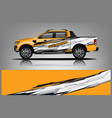truck wrap design for company vector image vector image