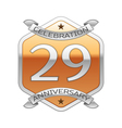 Twenty nine years anniversary celebration silver vector image vector image