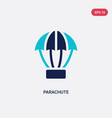 two color parachute icon from army concept vector image vector image