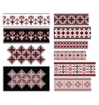 Ukrainian Ornaments Set vector image vector image