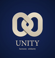 unity symbol design template vector image vector image