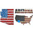 USA state of Arizona on a brick wall vector image