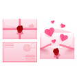 valentine day envelope love romantic paper mail vector image vector image