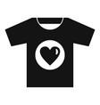 volunteer tshirt icon simple style vector image