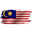 waving flag malaysia vector image vector image
