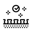 well epilated skin icon outline vector image vector image