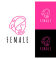woman logo template vector image vector image