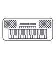 synthesizer line icon sign vector image
