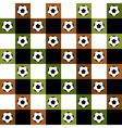 Football Ball Green Brown Chess Board vector image