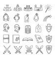 25 line art black and white fairytale elements vector image vector image