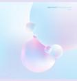 abstract 3d liquid fluid circles pastel color vector image vector image