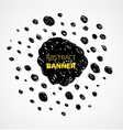 Abstract black scribble dots circle frame banner vector image vector image