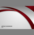 abstract template red and gray curve on square vector image vector image