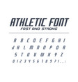 athletic fast and strong universal font sport run vector image vector image
