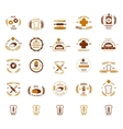 bakery logos set vector image