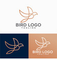 beautiful bird logo design vector image vector image