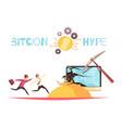bitcoin hype design concept vector image vector image