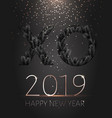black xo paper cut new year 2019 gold confetti vector image