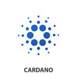 cardano crypto currency coin icon vector image