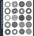 celtic circles and rings for tattoo design vector image vector image