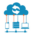 Cloud computing design vector image vector image