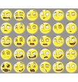 Cool yellow smilies emotions Set vector image vector image