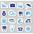economy stickers vector image vector image