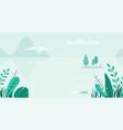 flat background spring landscape vector image vector image