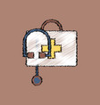 flat shading style icon first aid bag vector image vector image
