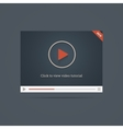 Flat video player template win new label vector image