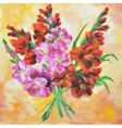 Gladiolus Flowers Painting vector image vector image