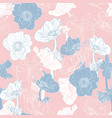 hand drawn line anemone flowers pattern vector image vector image