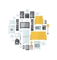 Household appliances flat colourful icons drawn up vector image vector image