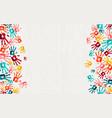 human hand print color background art