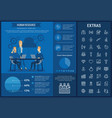 human resource infographic template and elements vector image vector image