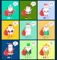 iceland and spain santa clauses vector image