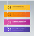 infographic step banners color hanging labels vector image
