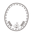 isolated seal stamp with leaf design