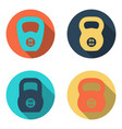 kettlebell flat icons isolated on white background vector image