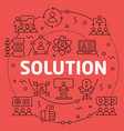 linear solution vector image vector image