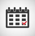 Logo calendar with a check mark vector image vector image