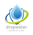 Logo Drop Water Pure Shapes Symbol Design Icon vector image vector image
