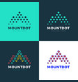 logo letter m mountain investment landscape vector image