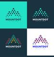 logo letter m mountain investment landscape vector image vector image