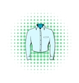 Mens shirt icon comics style vector image vector image