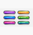 modern buttons for web design apps and games vector image